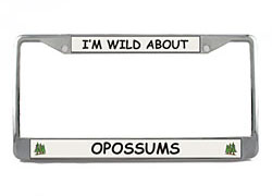 Opossum License Plate Frame