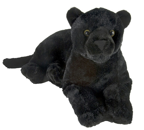 Laydown Panther Plush Stuffed Animal 12