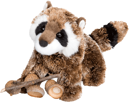 "Raccoon Patch 7"" Stuffed Plush Animal"