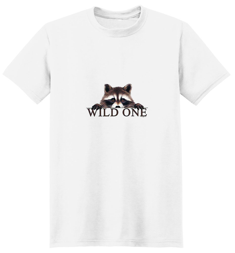 Raccoon T- Shirt Wild One