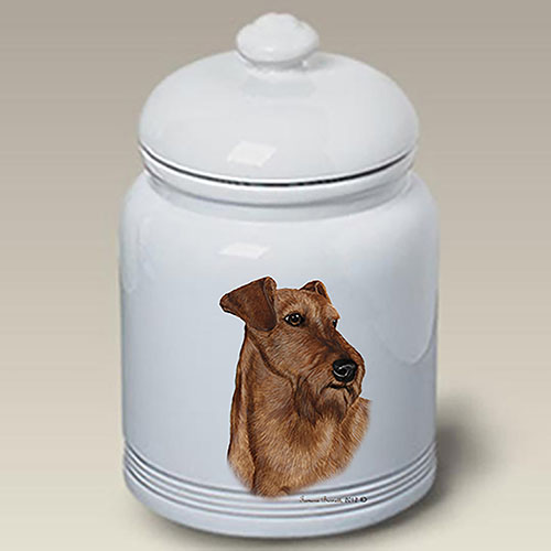 Irish Terrier Treat Jar