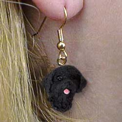 Portuguese Water Dog Authentic Earrings