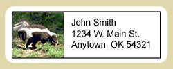 Skunk Address Labels