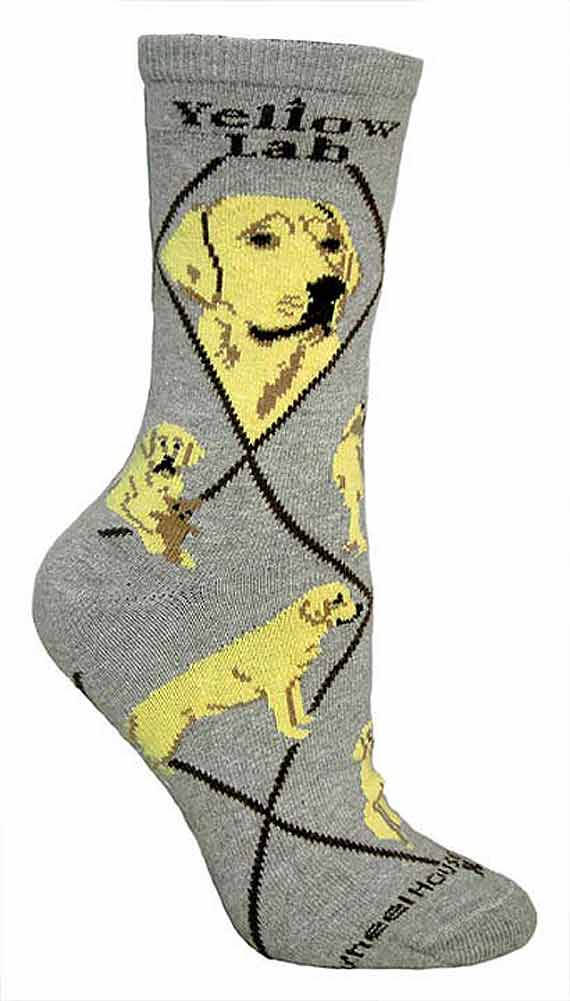 Yellow Lab Socks