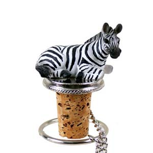Zebra Bottle Stopper