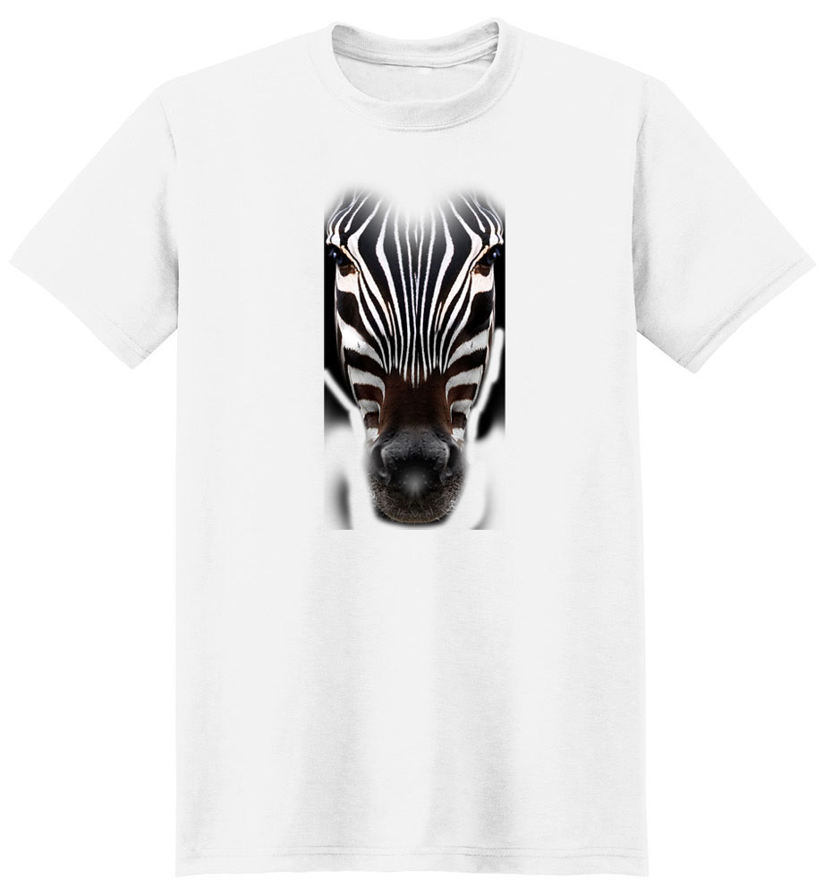 Zebra T Shirt Full Face