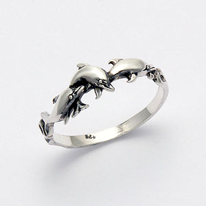Dolphin Ring - Sterling Silver