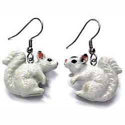 White Squirrel Earrings True to Life