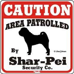 Shar Pei Caution Sign