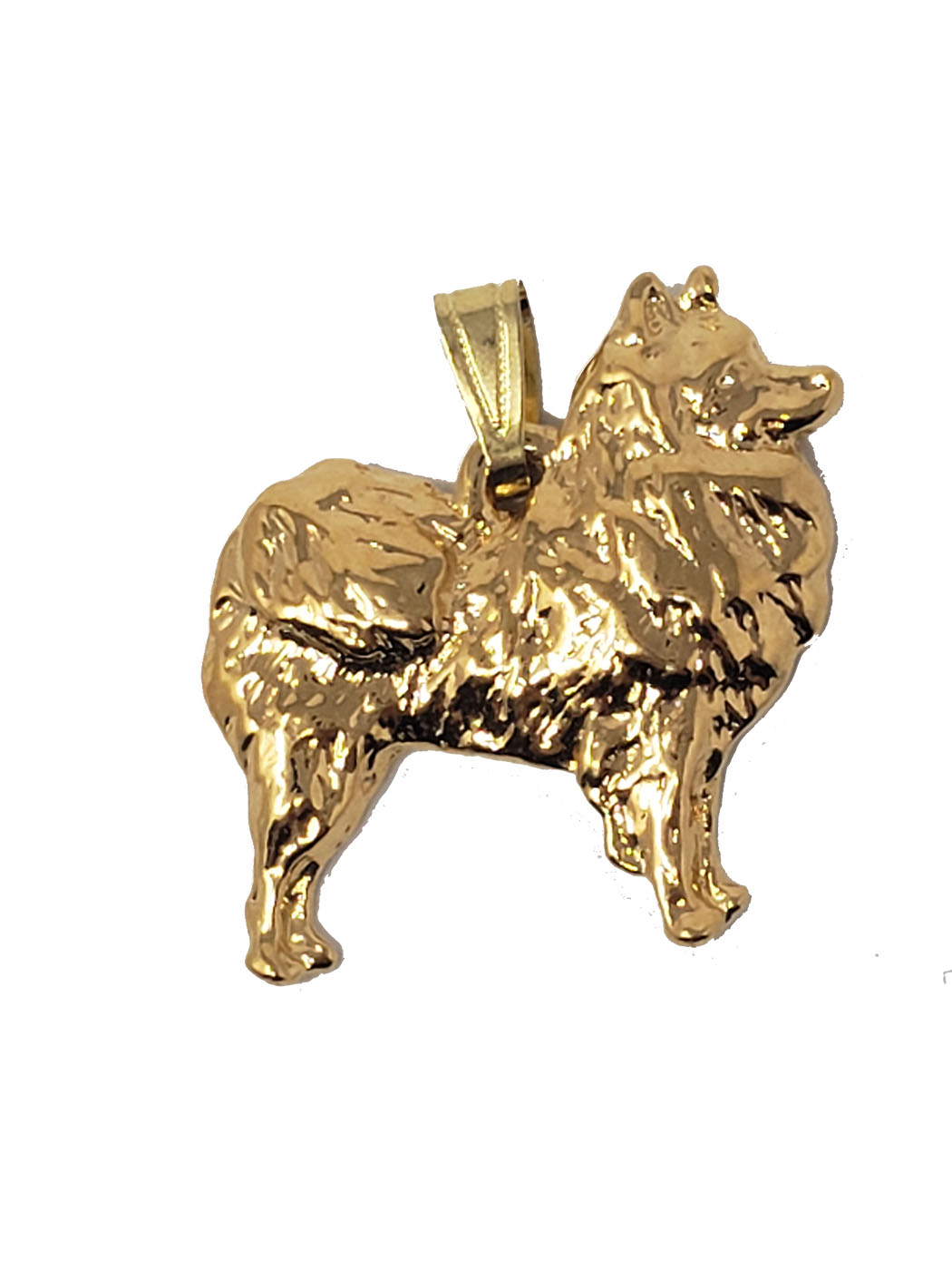 American Eskimo Dog 24K Gold Plated Pendant