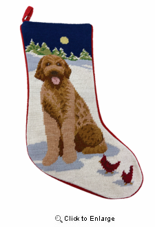 Goldendoodle Christmas Stocking