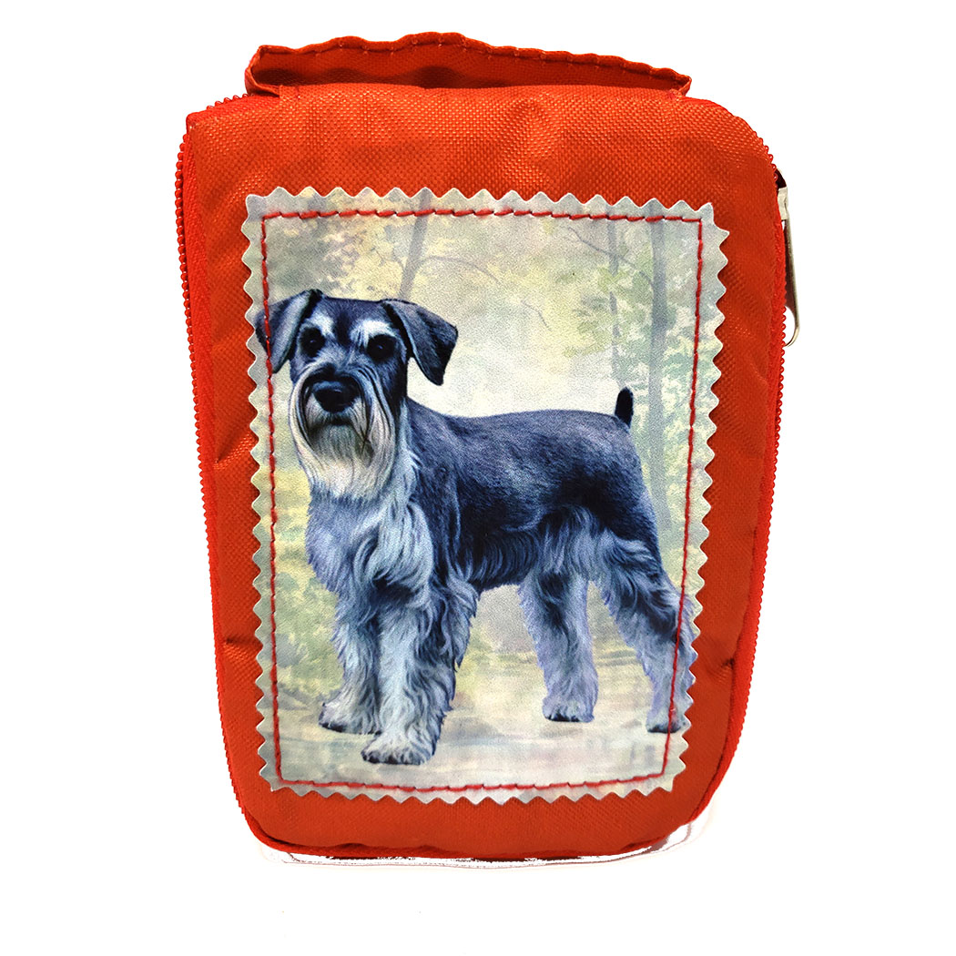 Schnauzer Tote Bag - Foldable to Pouch