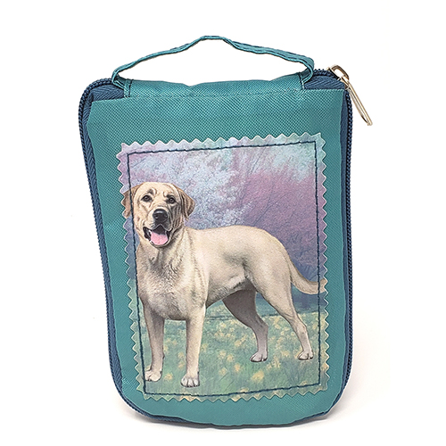 Yellow Labrador Retriever Tote Bag Standing - Foldable to Pouch