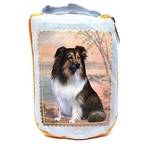 Shetland Sheepdog Tote Bag - Foldable to Pouch