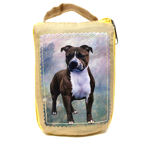 Pit Bull Terrier Tote Bag - Foldable to Pouch