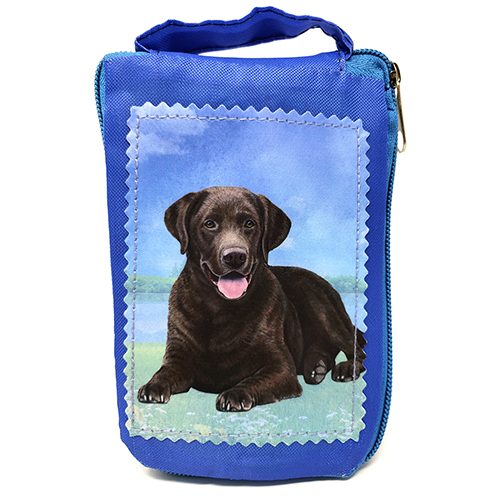 Chocolate Labrador Retriever Tote Bag - Foldable to Pouch