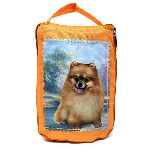 Pomeranian Tote Bag - Foldable to Pouch