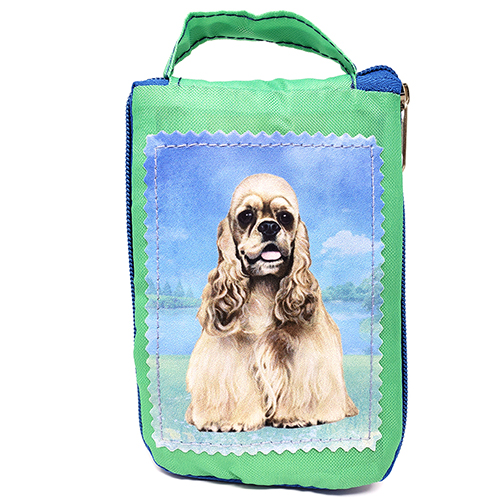 Cocker Spaniel Tote Bag - Foldable to Pouch