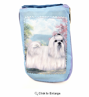 Maltese Tote Bag - Foldable to Pouch