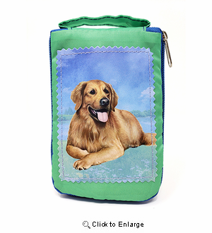 Golden Retriever Tote Bag Laying - Foldable to Pouch