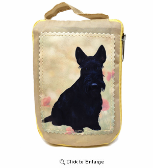 Scottish Terrier Tote Bag - Foldable to Pouch