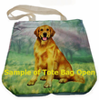 Black Labrador Retriever Tote Bag Sitting - Foldable to Pouch