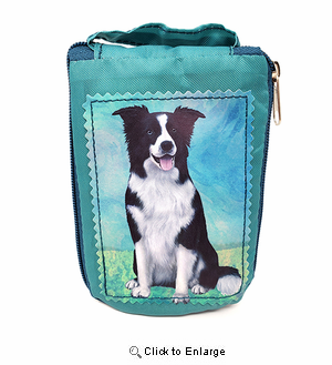 Border Collie Tote Bag - Foldable to Pouch