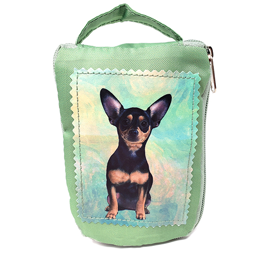 Chihuahua Tote Bag - Foldable to Pouch