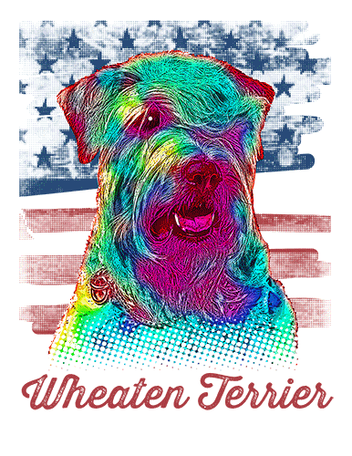 Wheaten Terrier T Shirt American Flag