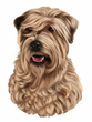 Wheaten Terrier Decal Window Sticker