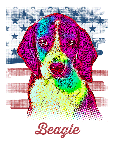 Beagle T Shirt American Flag