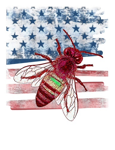 Bee T Shirt American Flag