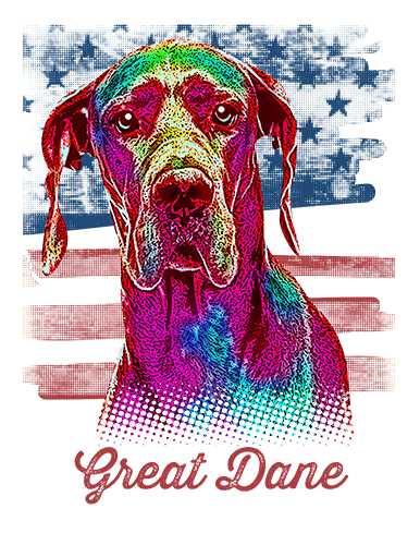 Great Dane T Shirt American Flag