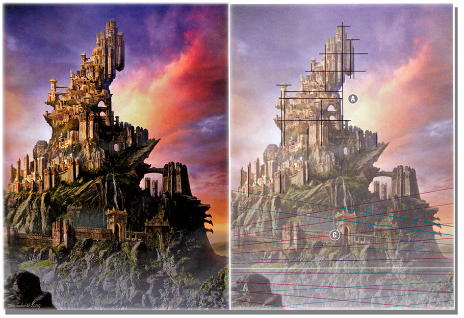 how to draw and paint - fantasy architecture