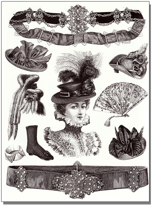 Shoes, Hats and Fashion Accessories: A Pictorial Archive ...