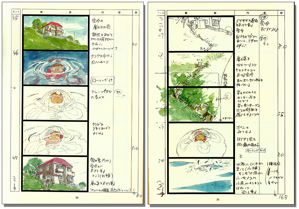 Anime Storyboard | Ponyo On The Cliff By The Sea Storyboard Vol 16 Anime Books