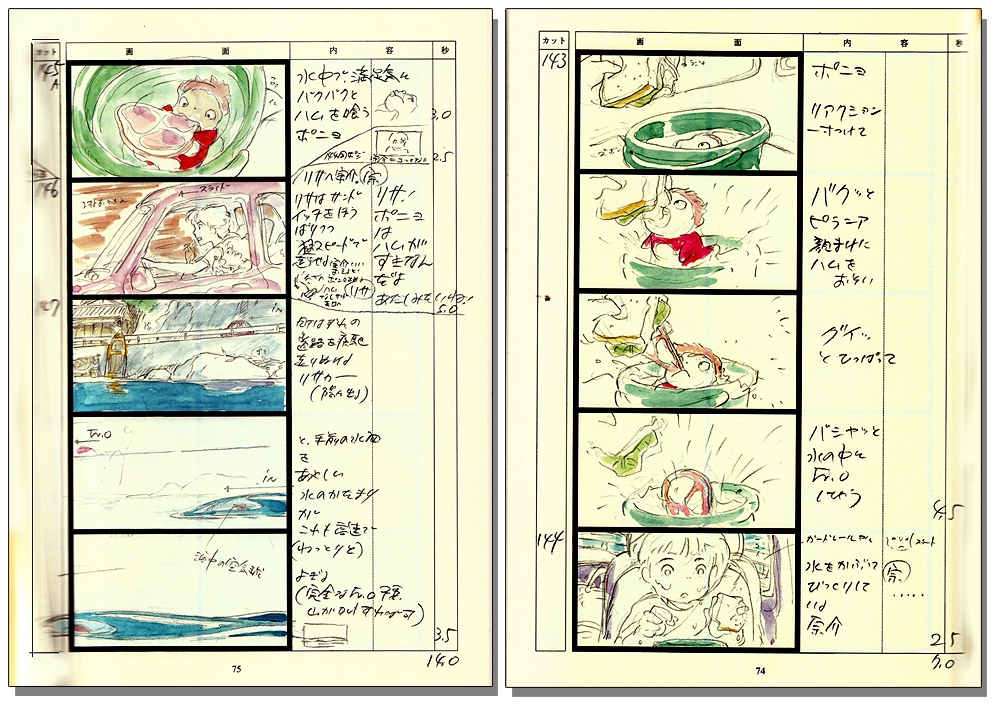 Ponyo On The Cliff By The Sea Storyboard Vol  Anime Books