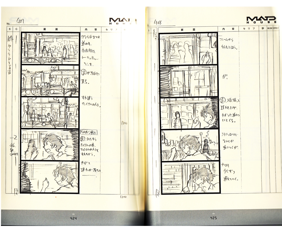 JAPAN Girl Who Leapt Through Time Storyboard Mamoru Hosoda, Book