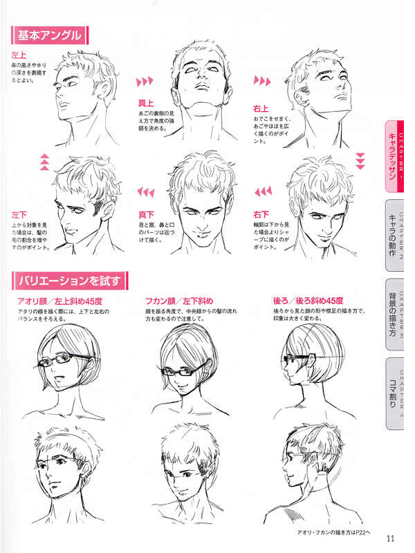 Basic Lessons For Japanese Manga Cartoon Drawings Reference Book