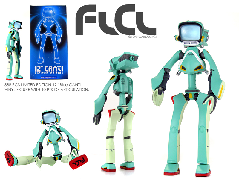 Flcl 888pc Limited Edition 12 Quot Blue Canti Figure Anime