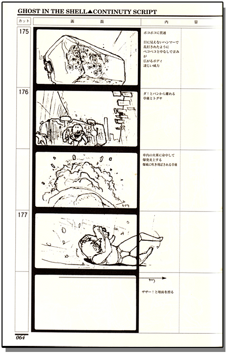 Ghost In The Shell Continuty Script Story Board  Anime Books