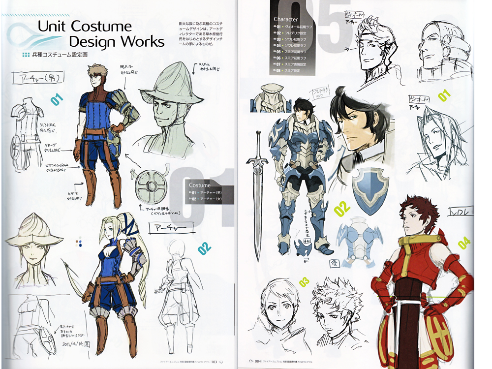Character Design Pdf Books : Fire emblem awakening model sheets art book