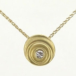 Diamond Droplet Pendant (18k Gold)