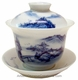 Premium Chinese Porcelain Tea Cup (with Lid & Saucer) - Landscape #2