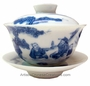 Chinese Porcelain Tea Cups with Lid & Saucer