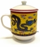 Chinese Porcelain & Clay Tea Mugs (with Lid)