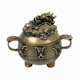 Chinese Brass Incense Burner - Round Dragon #4