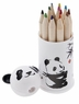 12 Colored Pencil and Panda Shapener Set