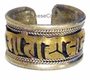 Sterling Silver with Gold Plated Tibetan Script Ring #3