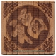 Engraved Chinese Bamboo Coaster - Good Fortune #9